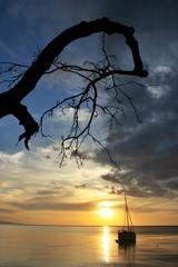 Sunset at Satonda island, Indonesia