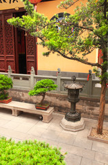 Yard in Jade Buddha Temple, Shanghai, China