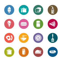 Food and Drinks Color Icons