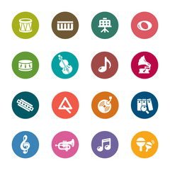 Music Color Icons