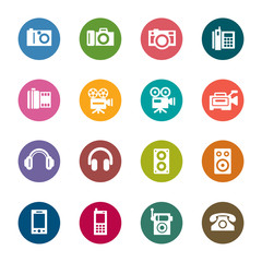 Photography and Sound Color Icons