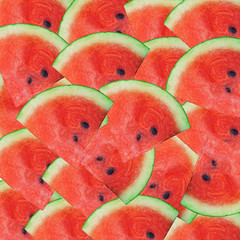 sliced watermelon as background