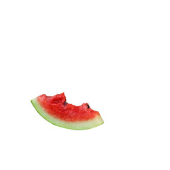slice of watermelon with bites