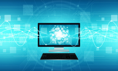 Technology communication internet connection background