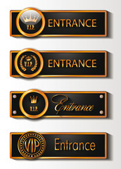VIP GOLD ENTRANCE SIGNS
