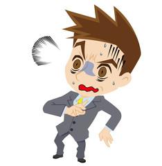 青ざめるビジネスマン