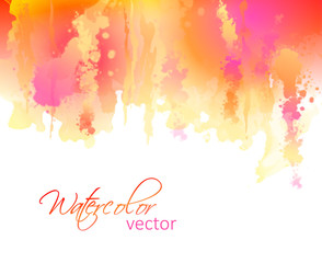 Abstract watercolor streaks background
