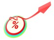 percent growth concept