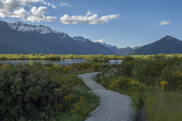 View of the lagoon at Glenorchy Lagoon, New Zealand