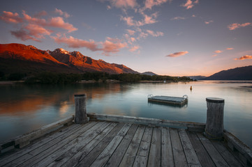 View from Glenorchy Jetty, Glenorchy during dusk