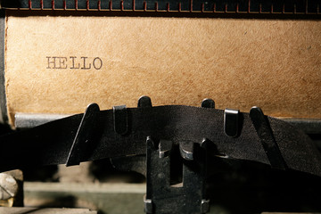 inscription on a typewriter