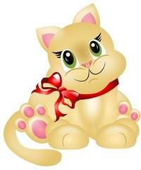 Cute small kitten
