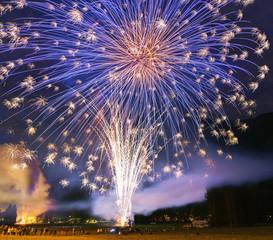 Pyrotechnic show in Santa Maria Maggiore, Vigezzo Valley - Italy