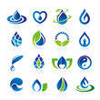 Water icon set - 68866343