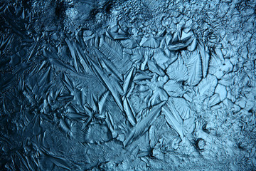 ice texture, macro, blue broken cold the background