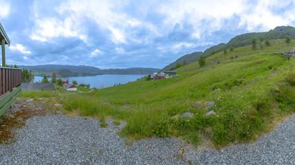 Panorama of beautiful Norway scenery