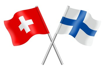 Flags: Switzerland and Finland