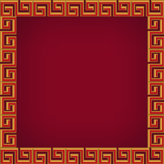 abstract chinese  background, frame and pattern