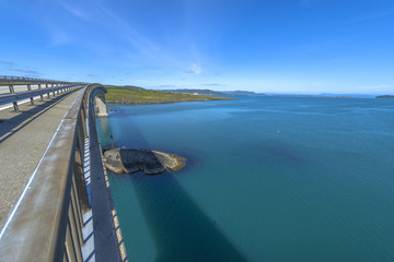 View from Ognasundbrua (bridge) in Rogaland, Norway