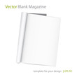 Vector blank page of magazine on white background.