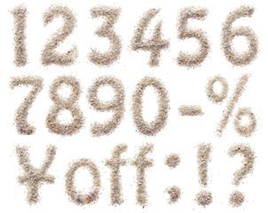 砂文字数字