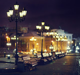 benches night city - 68868960
