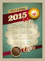 2015 Coffee & Cake Calendar Poster