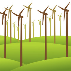 wind mill renewable energy background vector