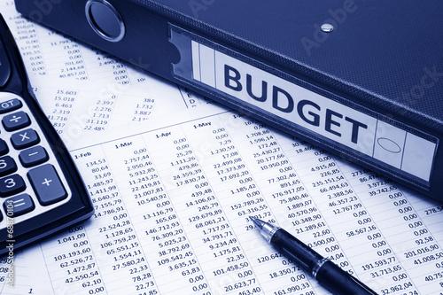 Leinwanddruck Bild Budget Concept