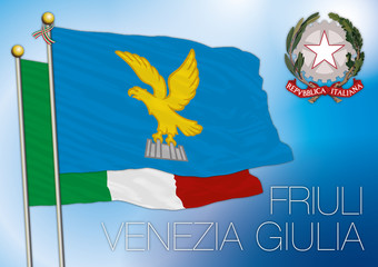 friuli regional flag, italy