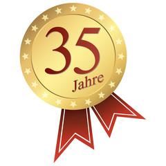 gold button german - Jubiläum 35 Jahre
