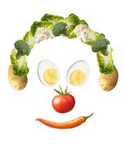 Smiley aus gesundem Gemüse