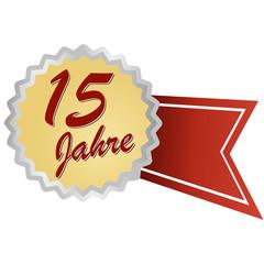 Jubilee button german - Jubiläum 15 Jahre