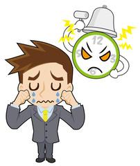 時計と泣くビジネスマン
