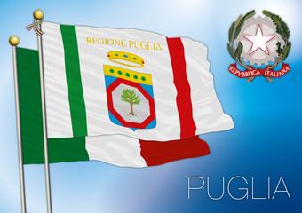 puglia regional flag, italy
