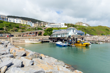 Ventnor harbour Isle of Wight south coast