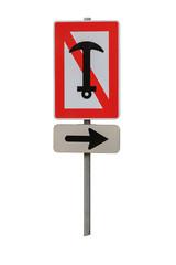 Schifffahrtszeichen Ankern verboten, freigestellt