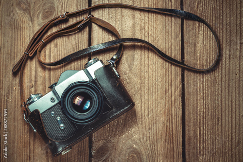 Leinwanddruck Bild Old Camera