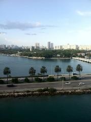 Miami Beach causeway, Floriday