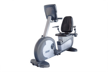 exercise bicycle under the white background