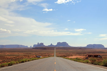 Distant View of Monument Valley, Utah, USA