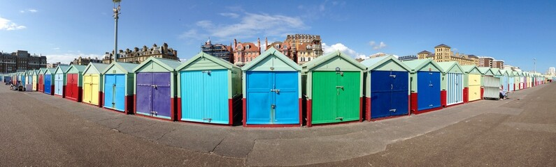 beach hut panorama