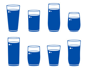 glass with beverage