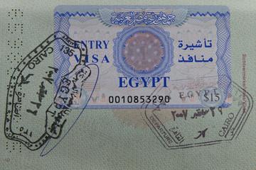 Ägyptisches Visum in deutschem Reisepass
