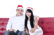 Christmas couple isolated