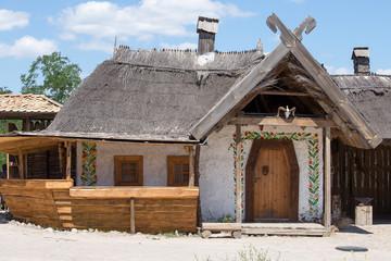 Wooden houses, Kiev, Ukraine