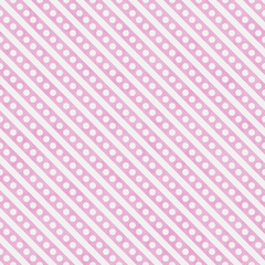 Light Pink and White Small Polka Dots and Stripes Pattern Repeat