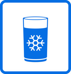 water glass with snowflake