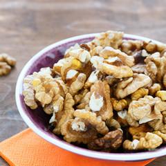 kernels walnuts closeup