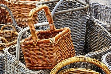 Traditional wicker baskets © Arena Photo UK
